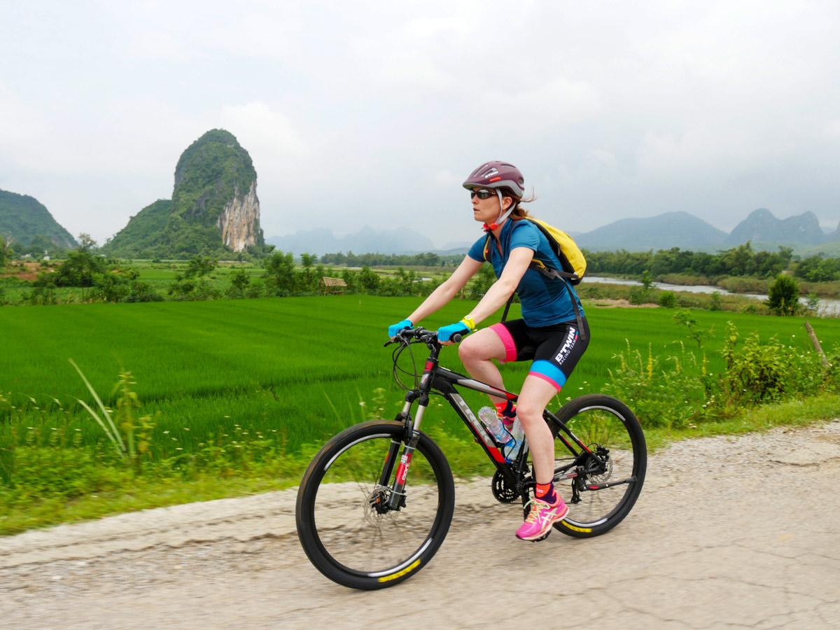 Cycling in Mai chau is a very rewarding experience