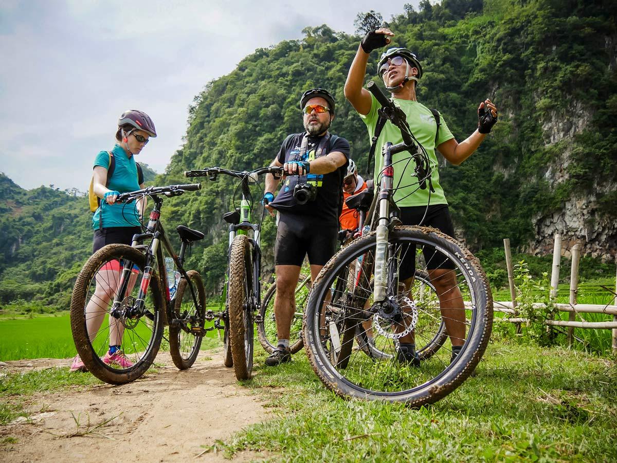 Biking at Mai Chau in Vietnam
