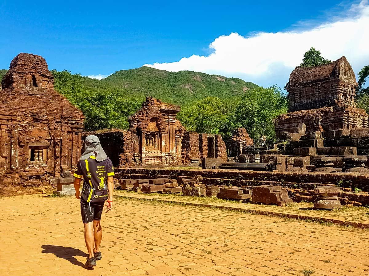 Exploring My Son ruins at Vietnam
