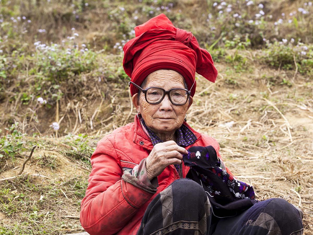Ethnic people Red Dzao