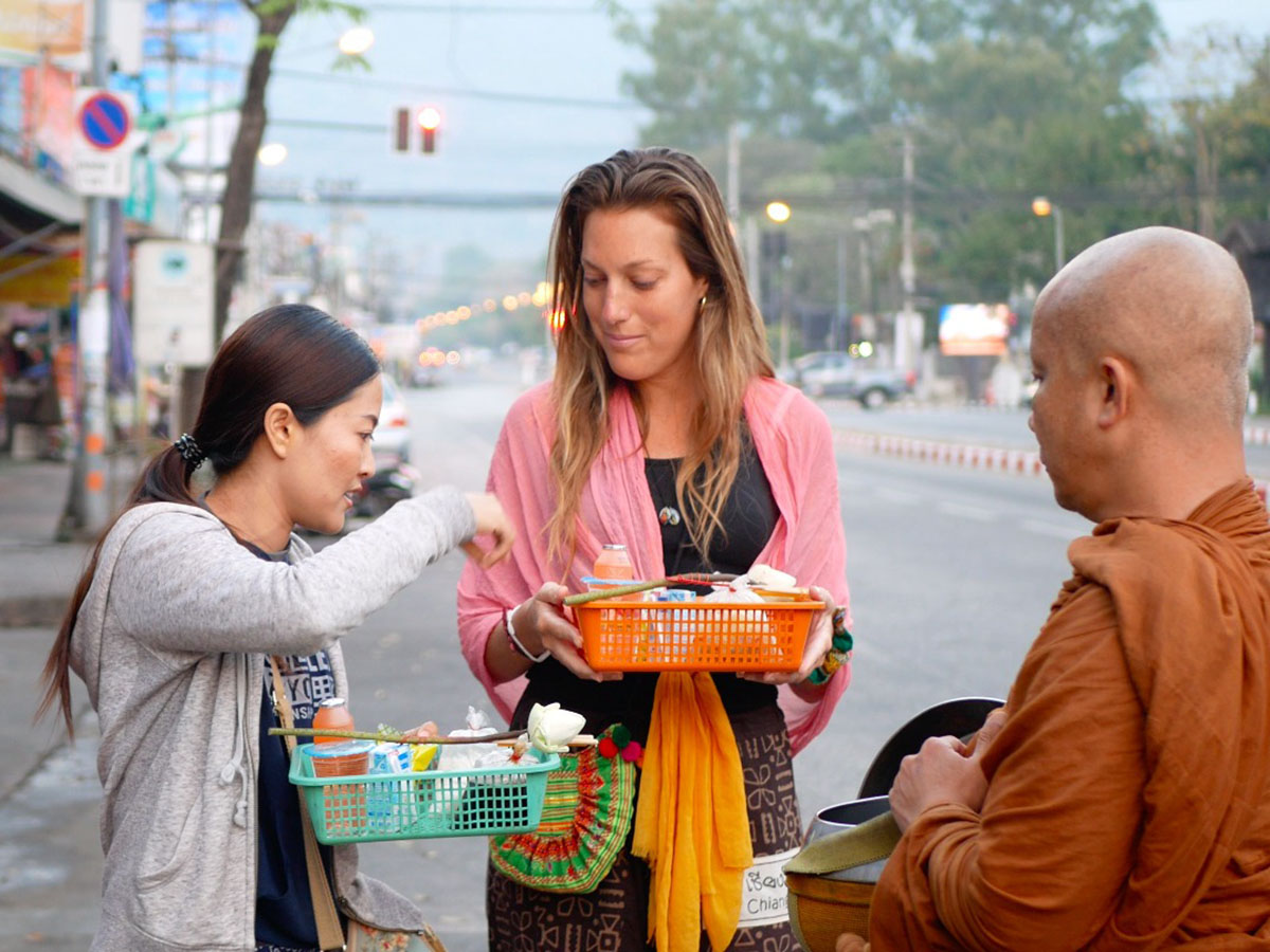 Chiang Mai Morning alms giving