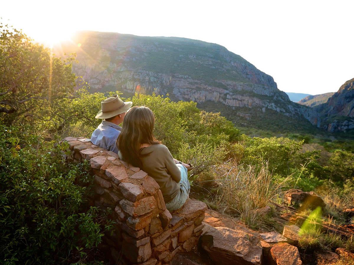 Couple enjoying the views of Leshiba