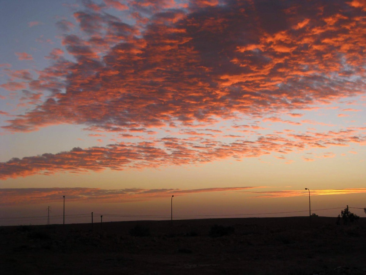 Negev Skies during the sunset