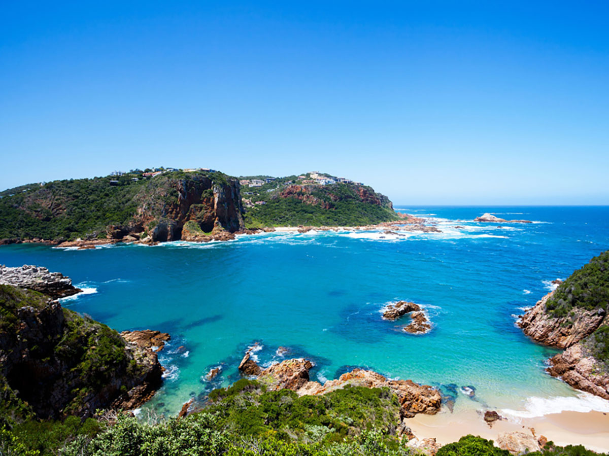 Turquose Shores along the Garden Route in South Africa