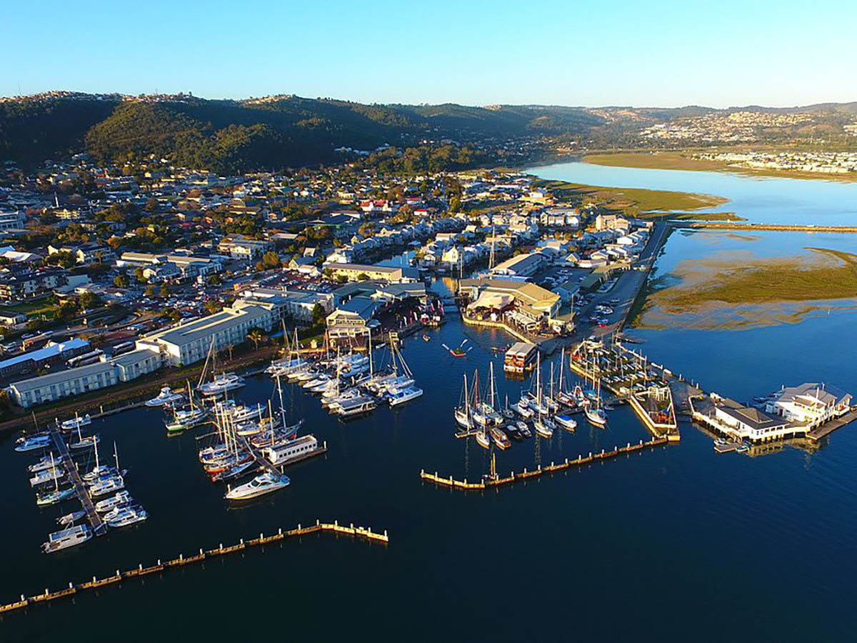 Knysna Waterfront Views as seen on guided Garden Route