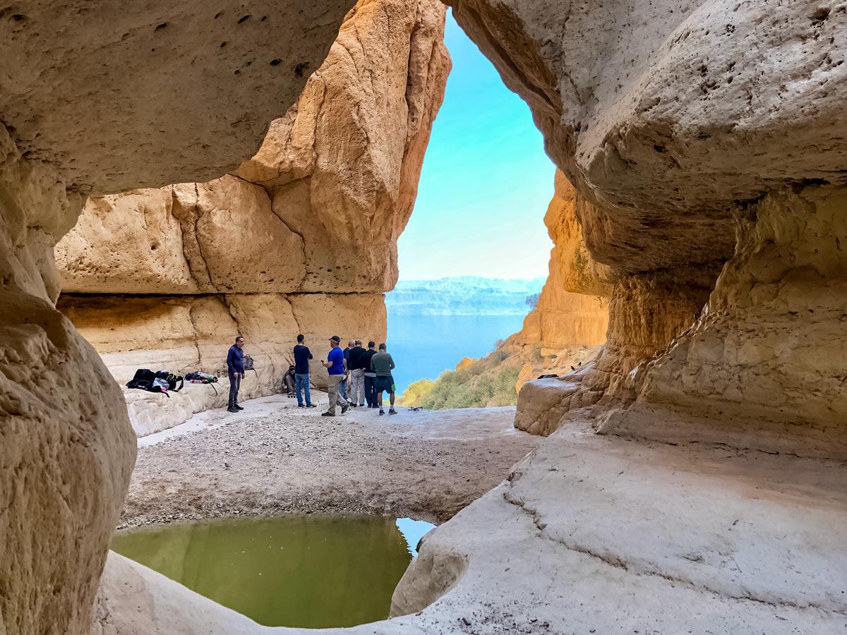 Ein Gedi Window to the Dead Sea seen hiking trek in Israel