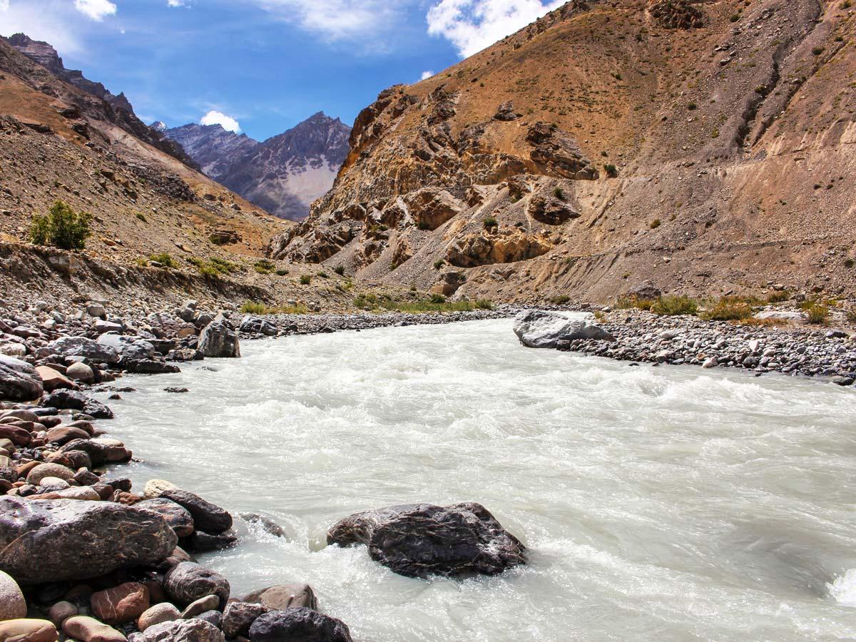 Beautiful river valley seen along Chita trek India