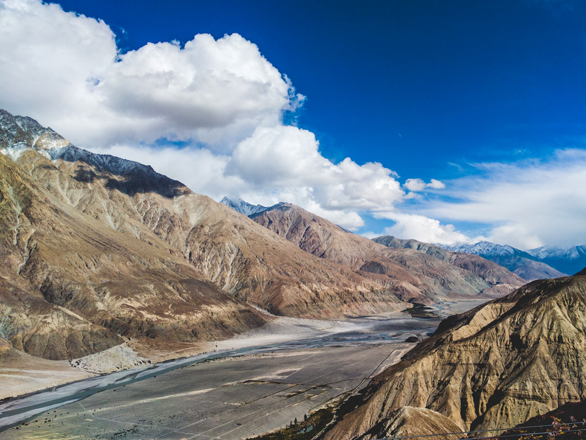 River running through Nubra Valley hiking in India