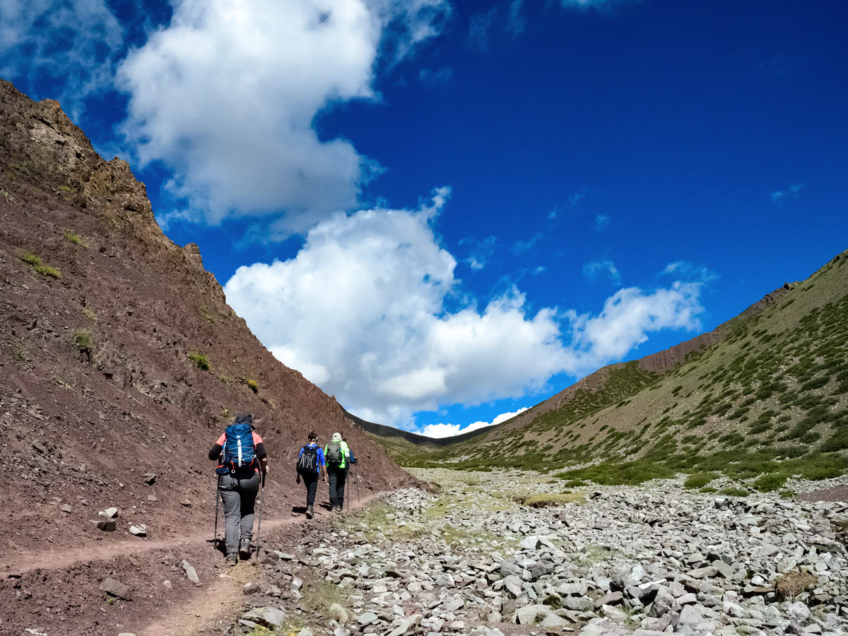 Hiking up gorge along snow leaoards and tiger adventure tour in India