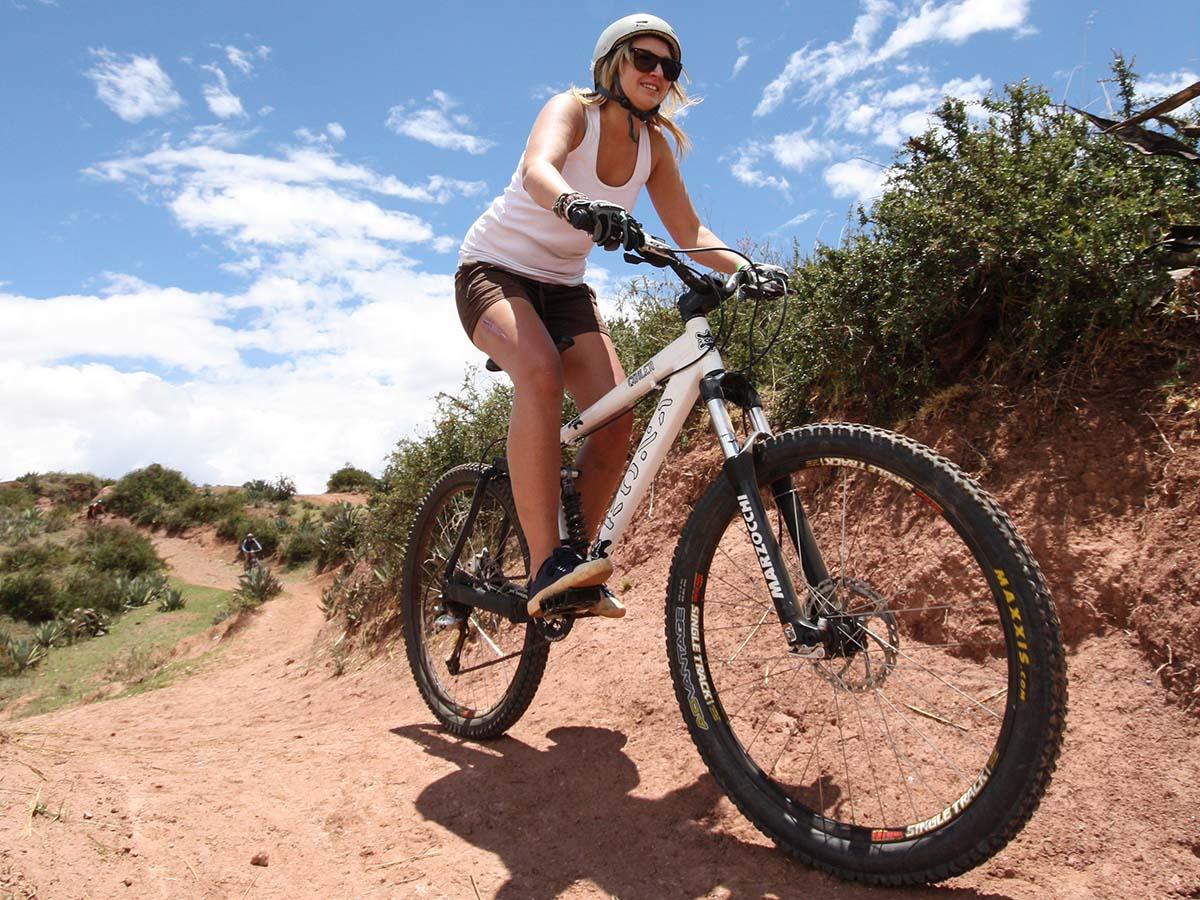 Girl on Bike - square