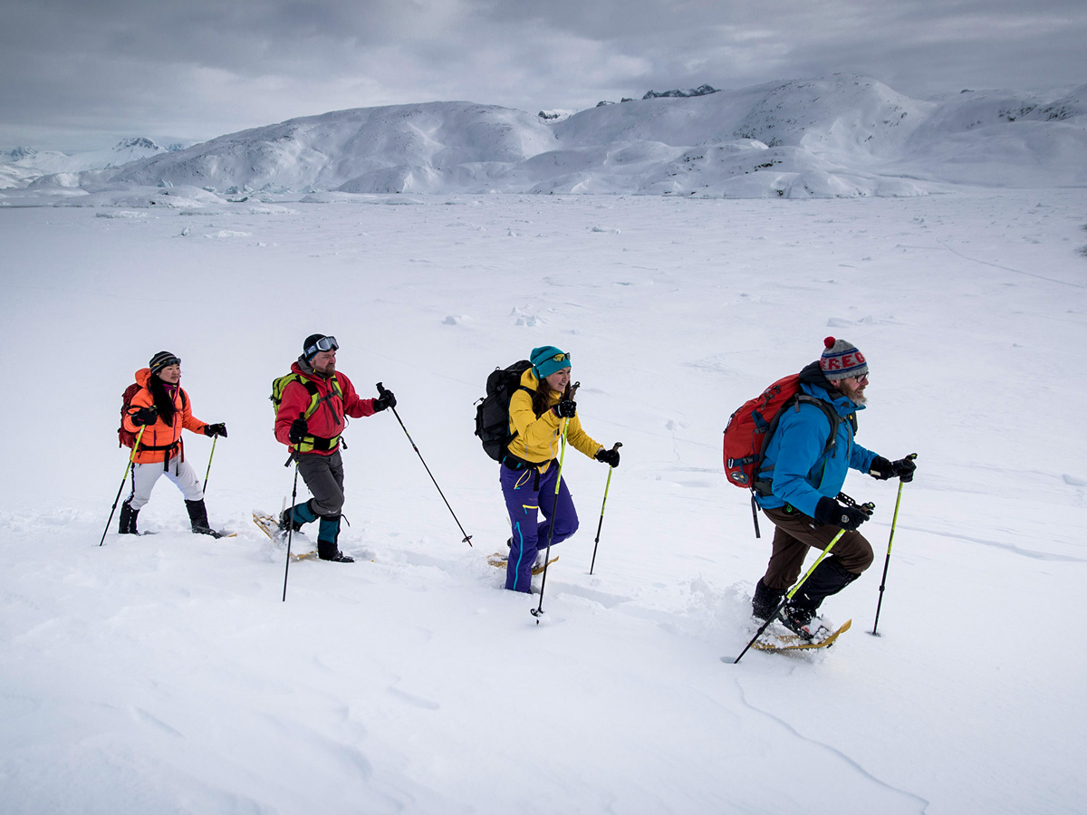 Snowshoeing Dog Sledding tour in Greenland