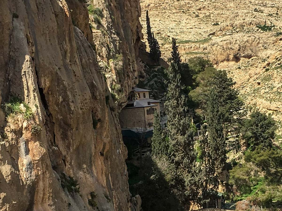 Faran Monestry hiking Jericho to Jerusalem trekking in Israel