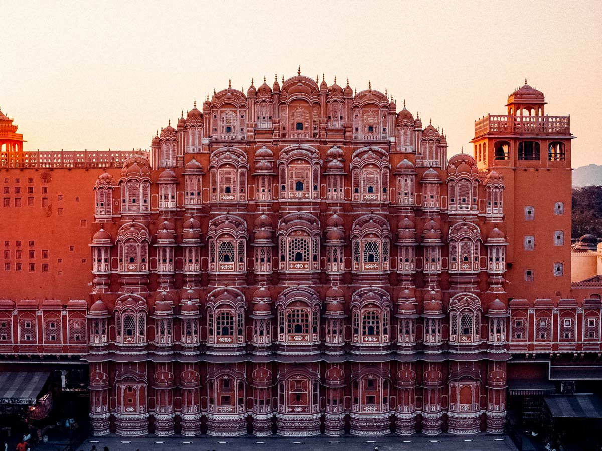 Hawa Mahal Jaipur India stunning arcitecture seen touring India