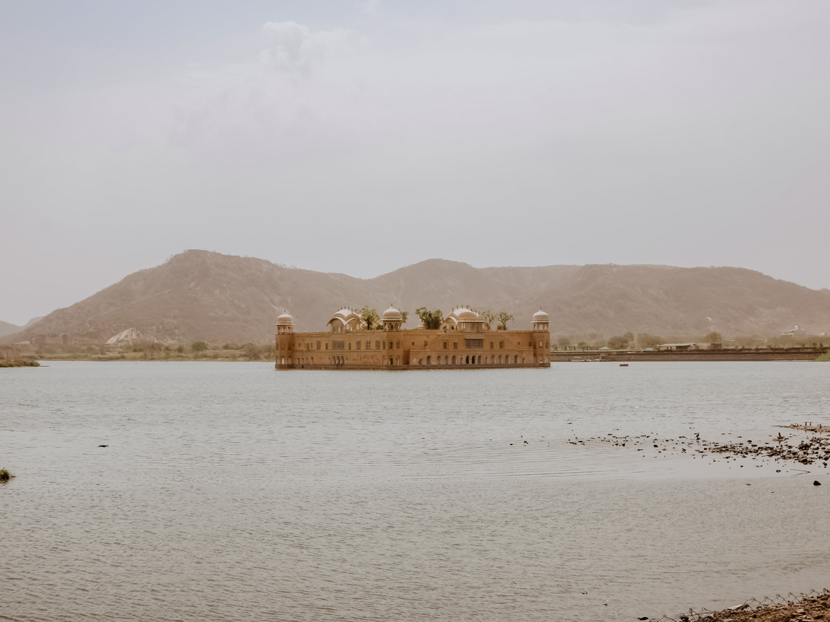 Famous water palace in Jaipur India
