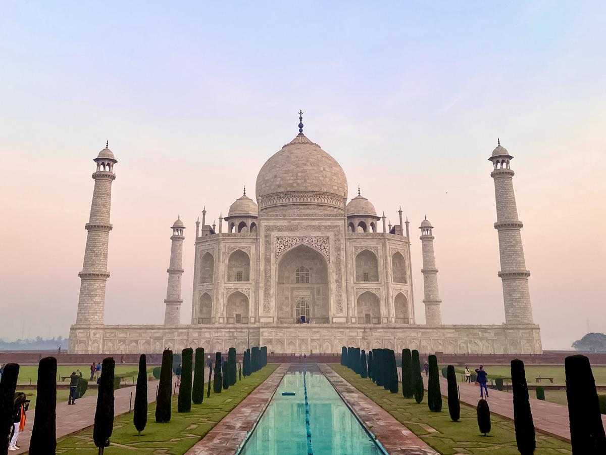 Famous Taj Mahal in arga India