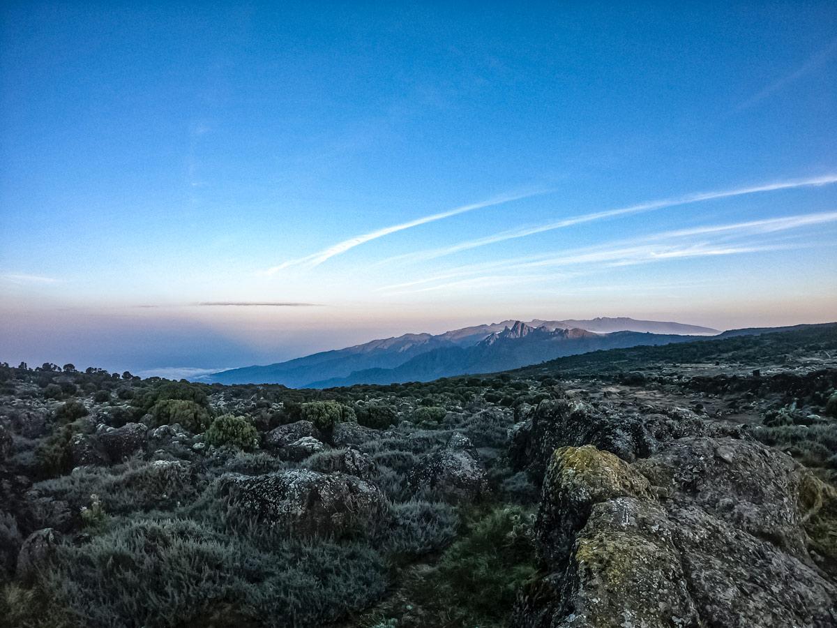 Mount Kilimanjaro vista views Tanzania hiking Lemosho route trail