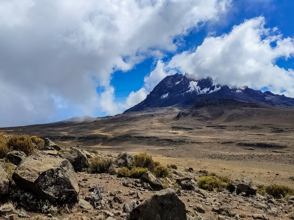 Beautiful mountain views hiking Kilimanjaro Tanzania Maranhu trail