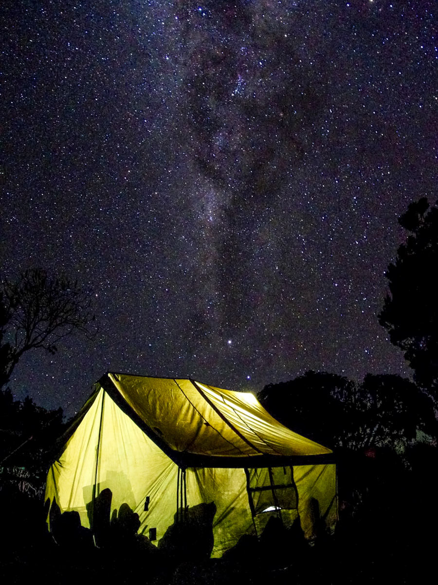 Mount Kilimanjaro camping under the stars Tanzania Rongai route
