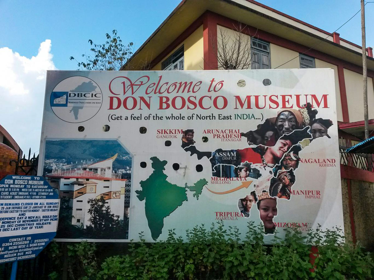 Don Bosco Museum sign North East India