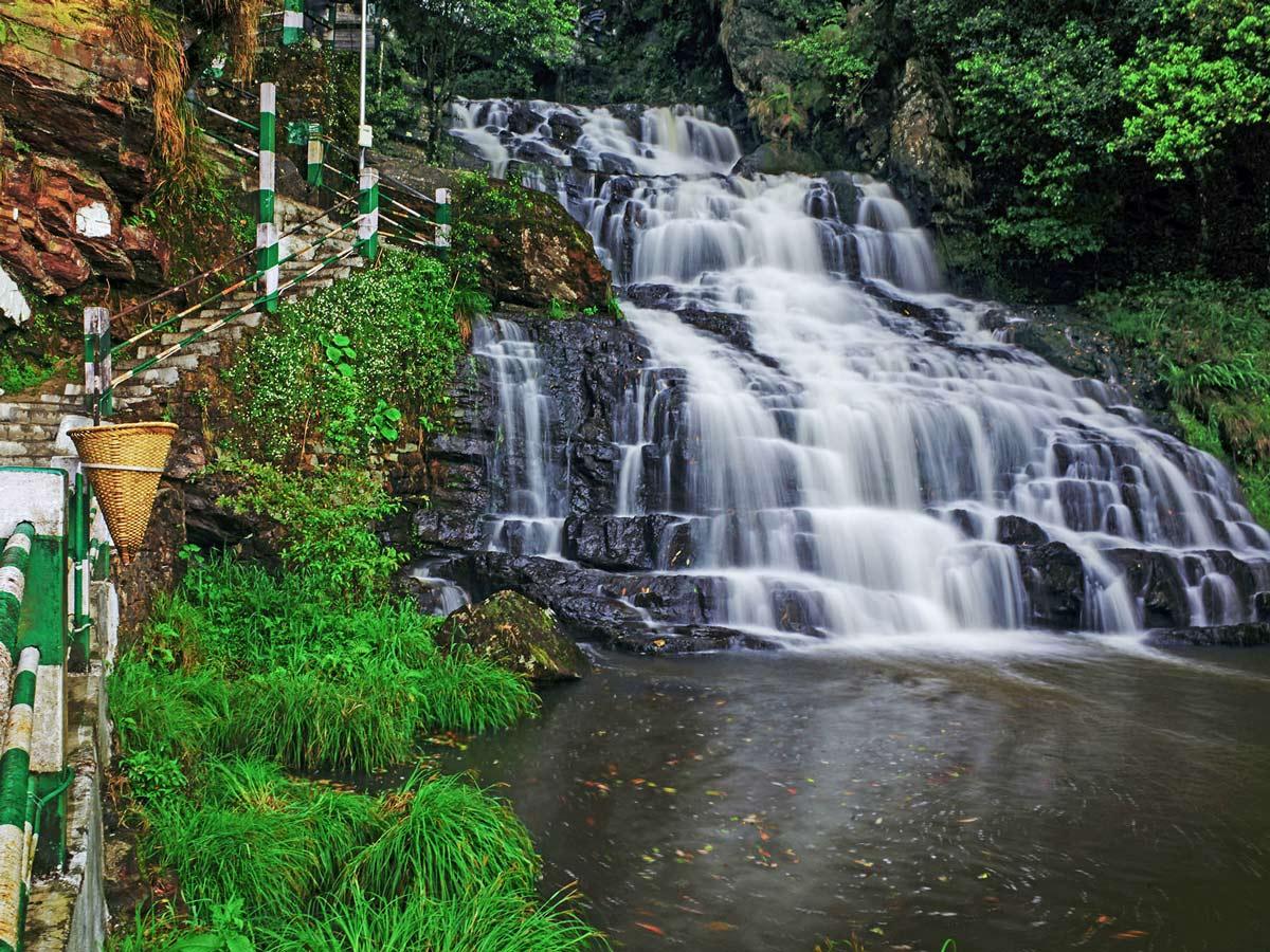 TransIndia Elephant Falls in Meghalaya North East India
