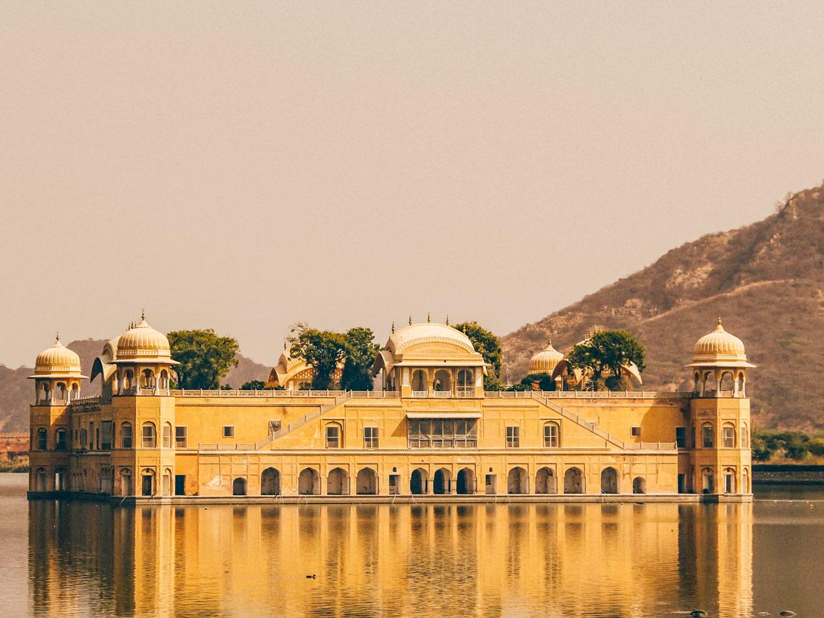 Jal Mahal floating temple Jaipur India