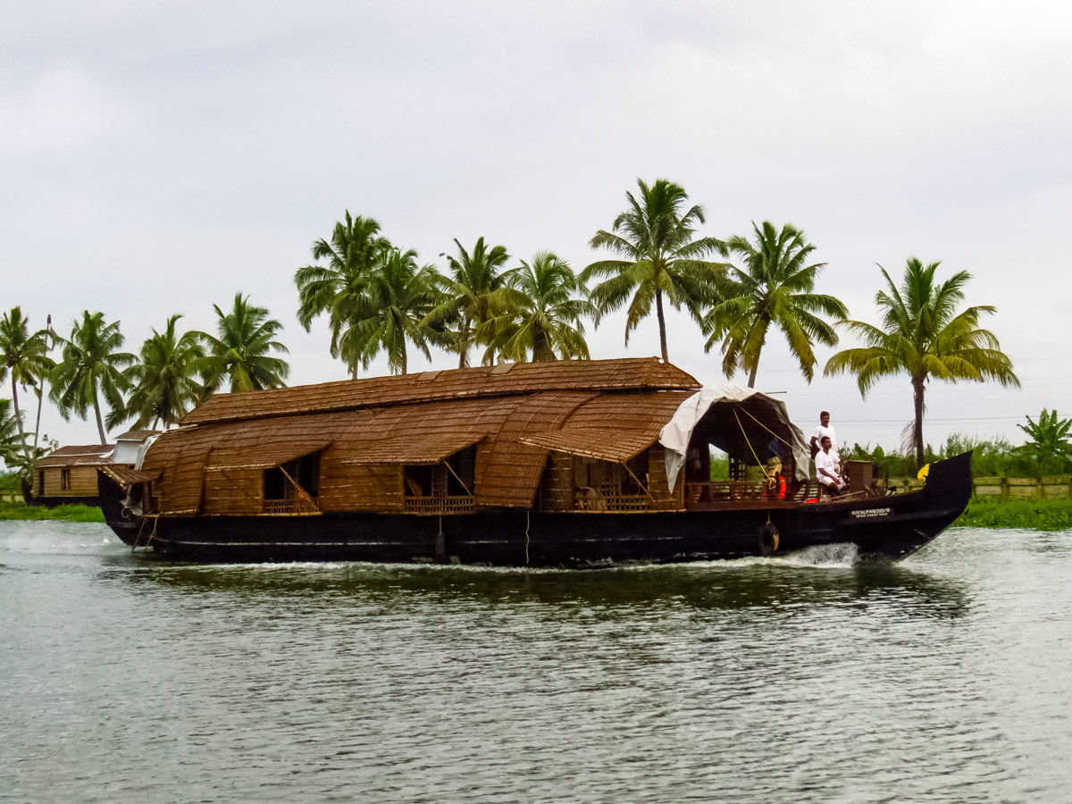 Unique houseboat in the backwaters of Kerala India