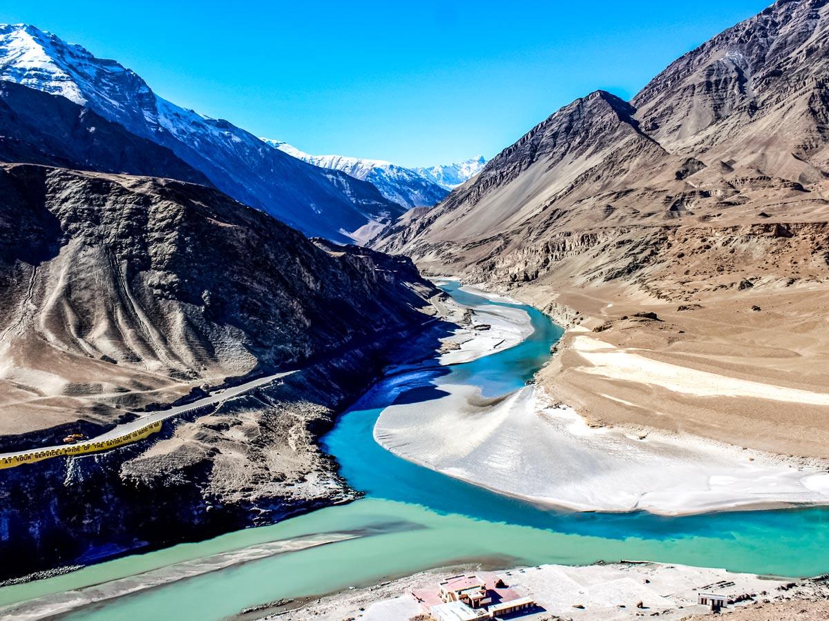 Indus River valley hiking trek Lamayuru to Spituk India
