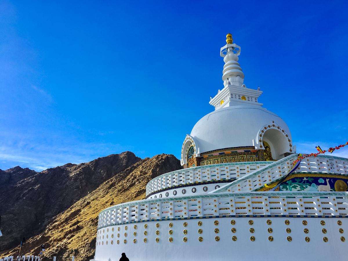 Shanti Stupa in Leh India Lamayuru trekking adventure