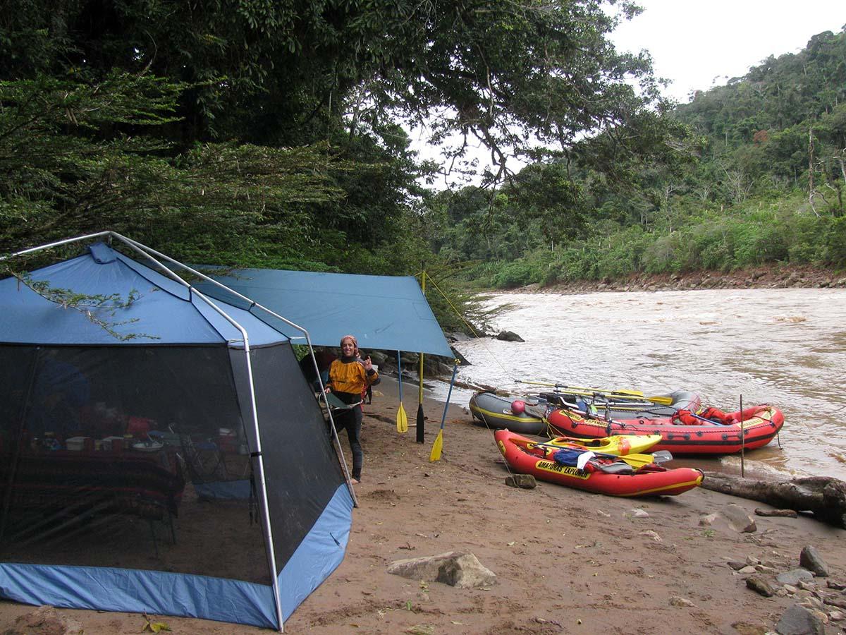 Camp on beach
