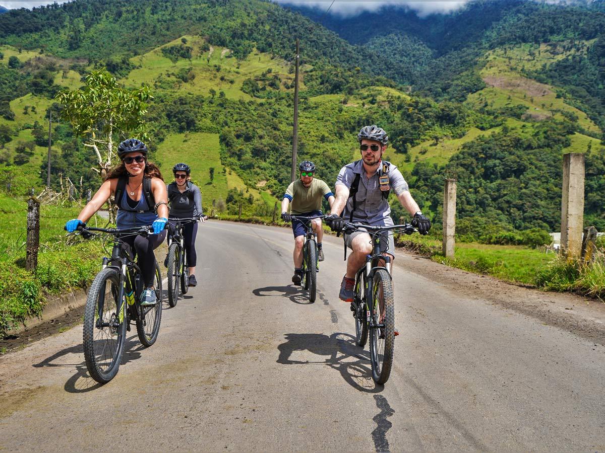 Cycling llanganates biking in the mountains of Peru Ecuador