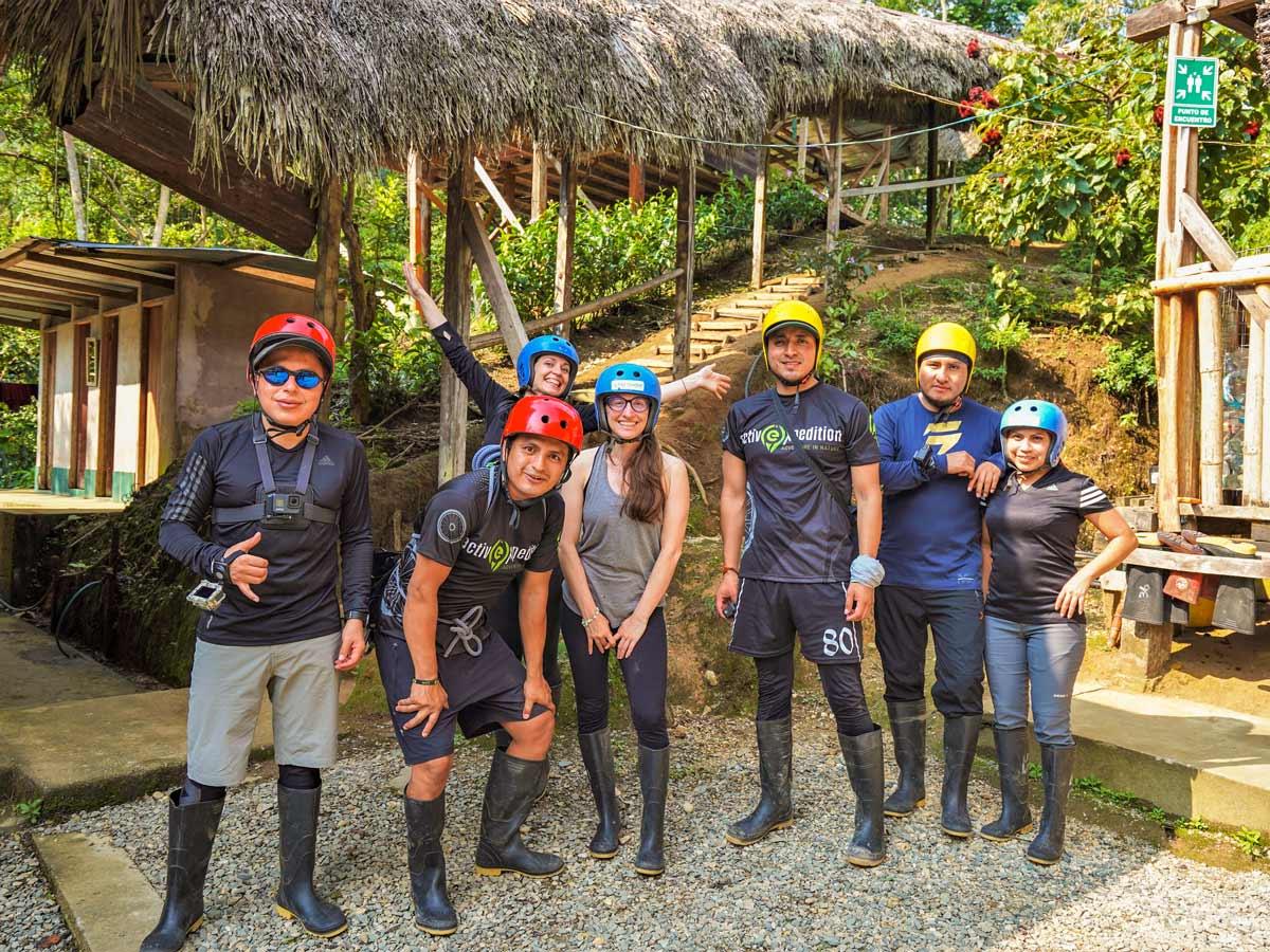 Adventure tour group photo Peru Ecuador