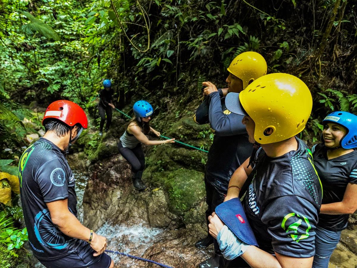 Exploring jungle rivers waterfalls adventure tour photo Peru Ecuador