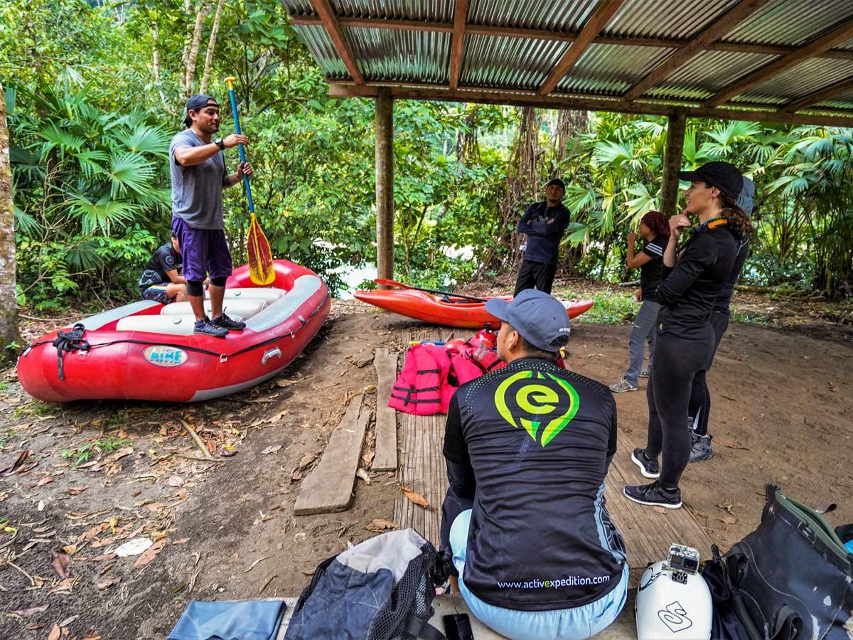 Learning river rafting safety multisport adventure tour photo Peru Ecuador