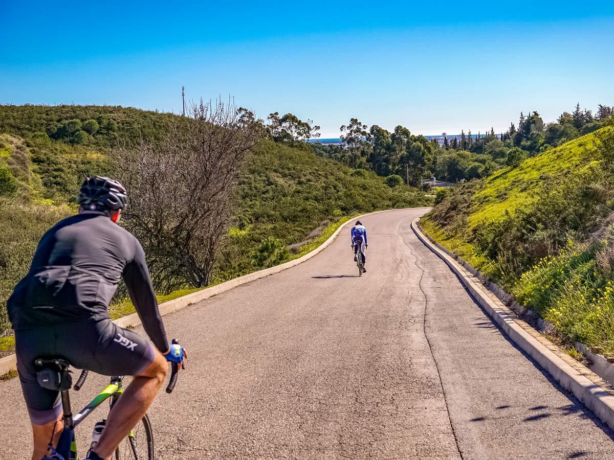 Road cycling bike tour beautiful Portugal