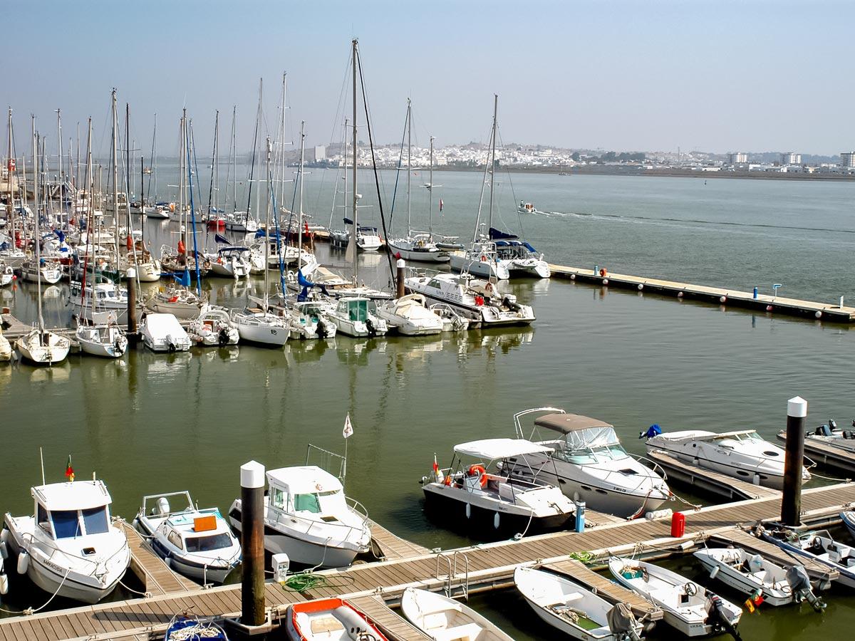 Road biking in Portugal adventure tour Marina Ayamonte boats sailboats