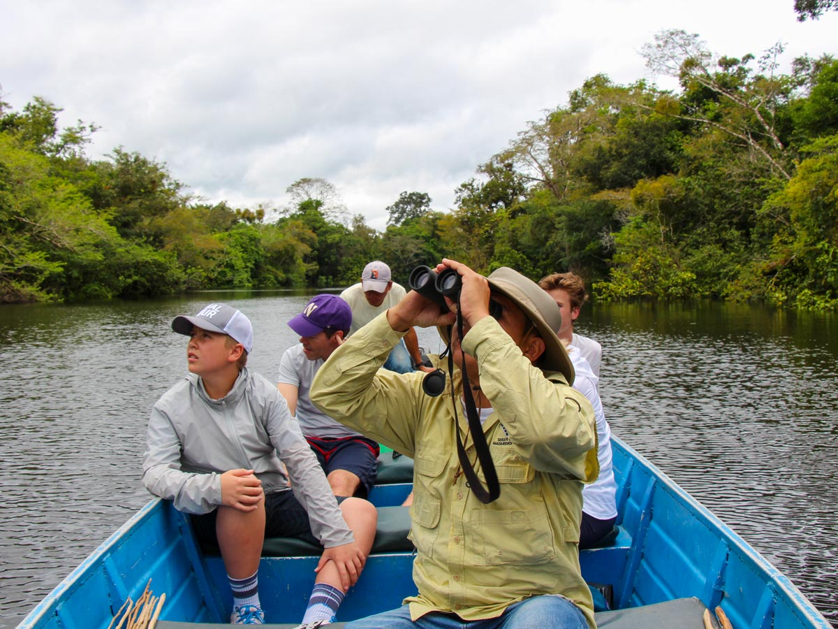 Amazon wildlife spotting camping expedition Peru