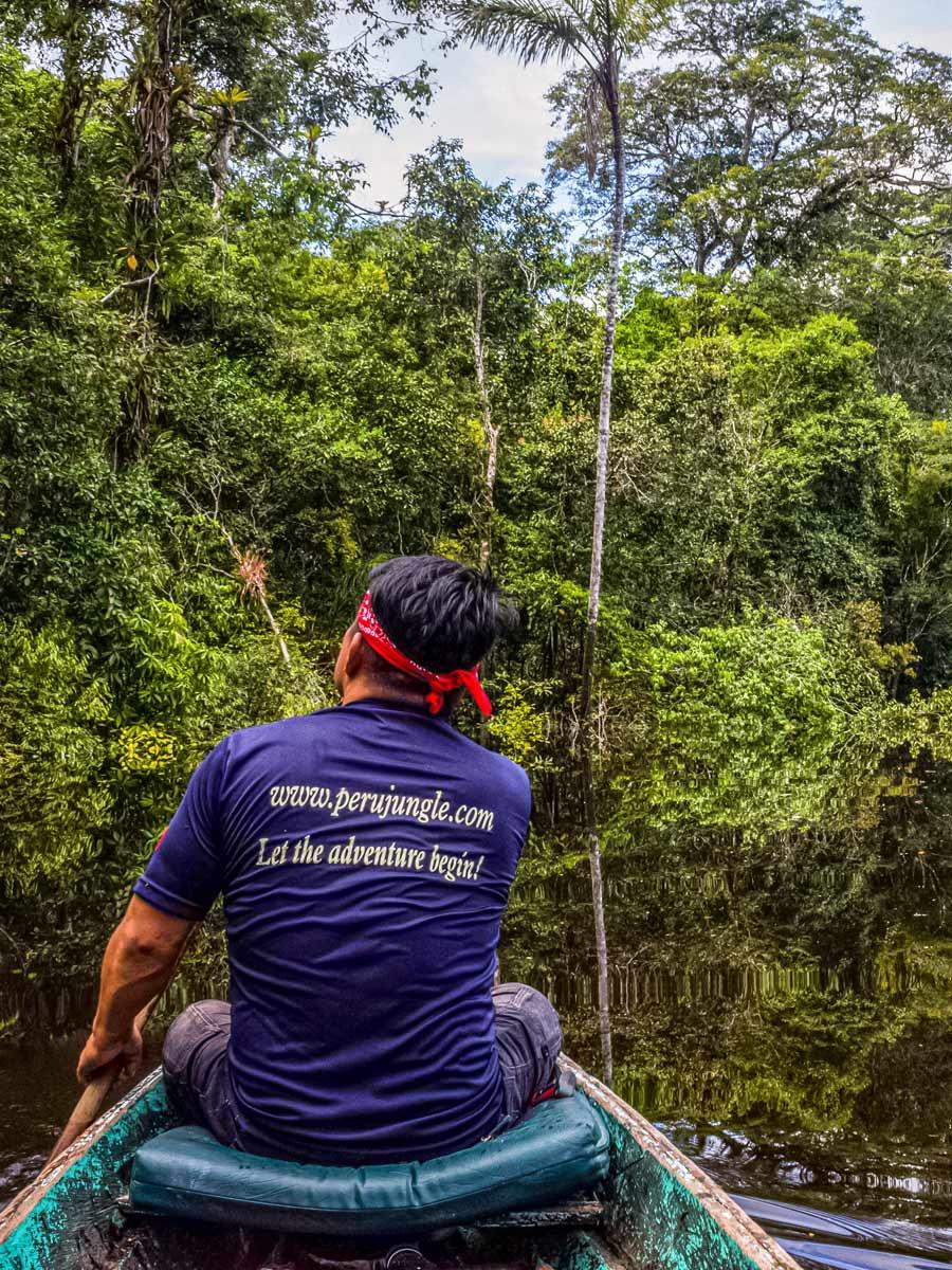 Peru Jungle boat tour Amazon fishing expedition Peru