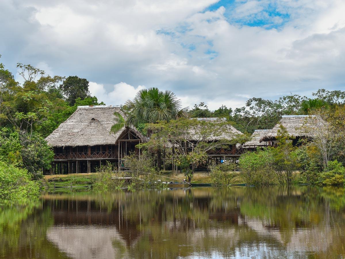 Peruvian Amazonia beautiful river resort fishing expedition Peru