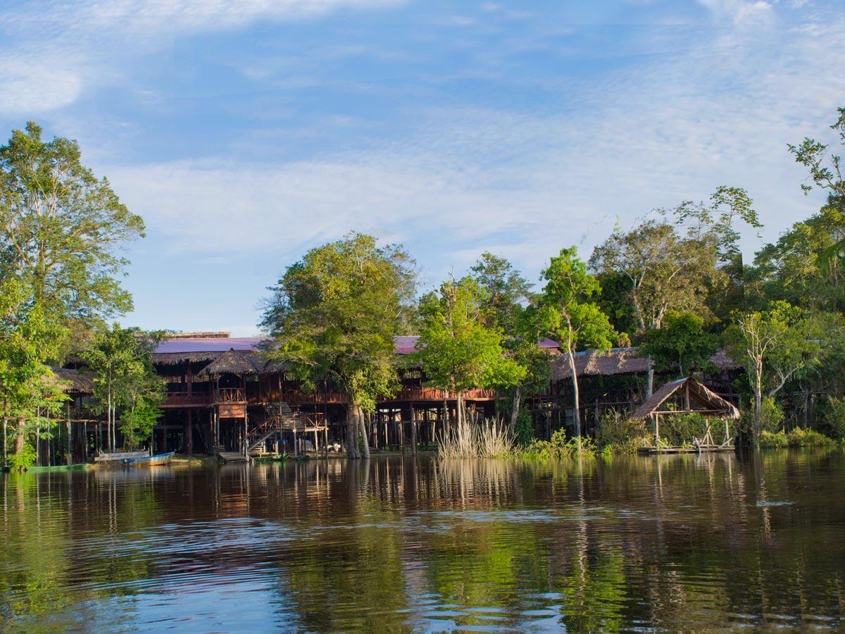 Peruvian Amazonia main lodge fishing expedition Peru