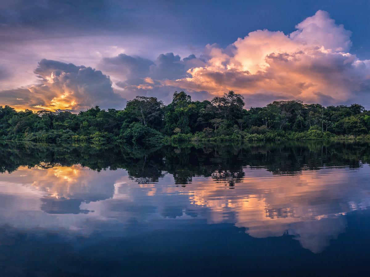 Beautiful Peruvian Amazonia Sunset fishing expedition Peru