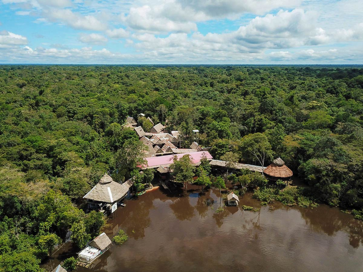 Amazon Research Center main camp on the river Peru