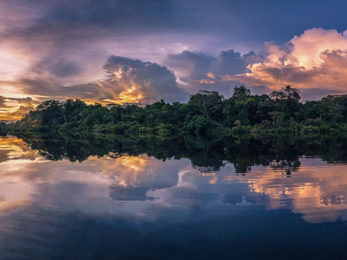 Amazon Research Center sunset river jungle