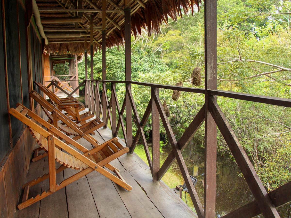 Amazon Research Center cabin camp views Peru