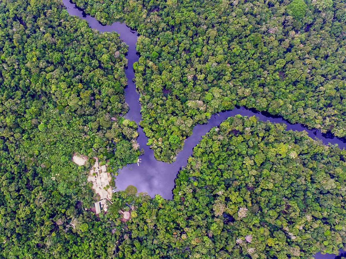 Remote base camp lodge Peruvian Amazonia survival training expedition