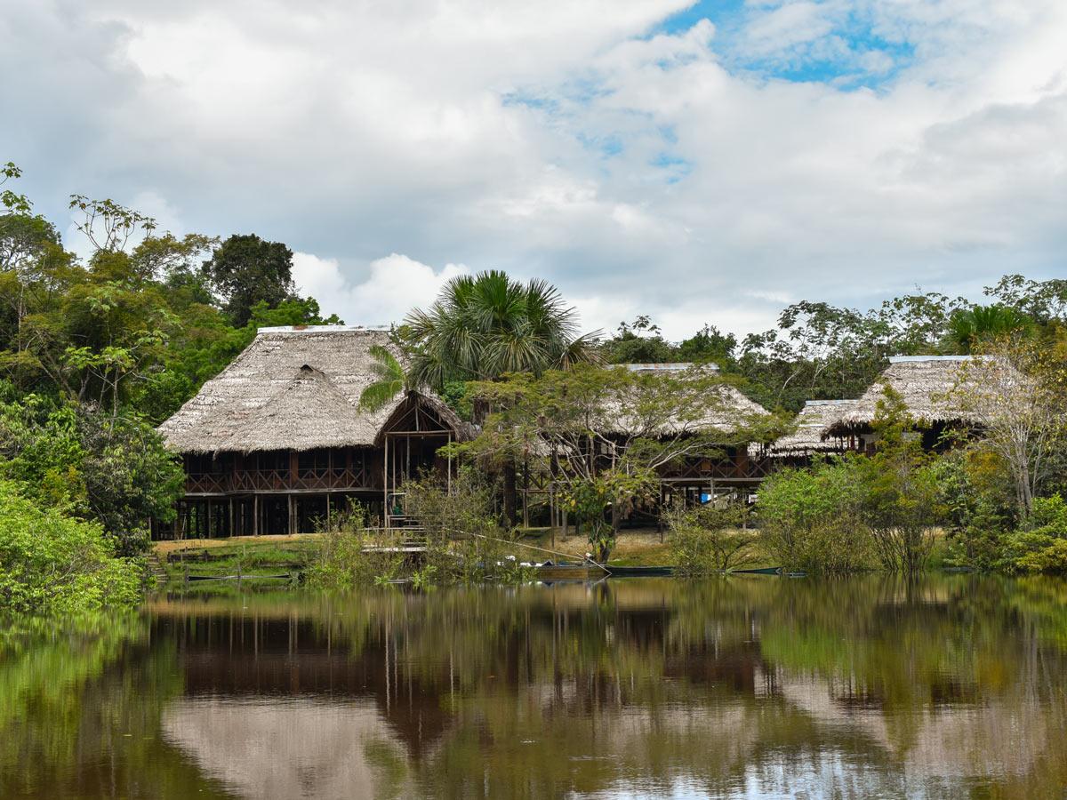 Main lodge basecamp Peru Amazonia survival training expedition