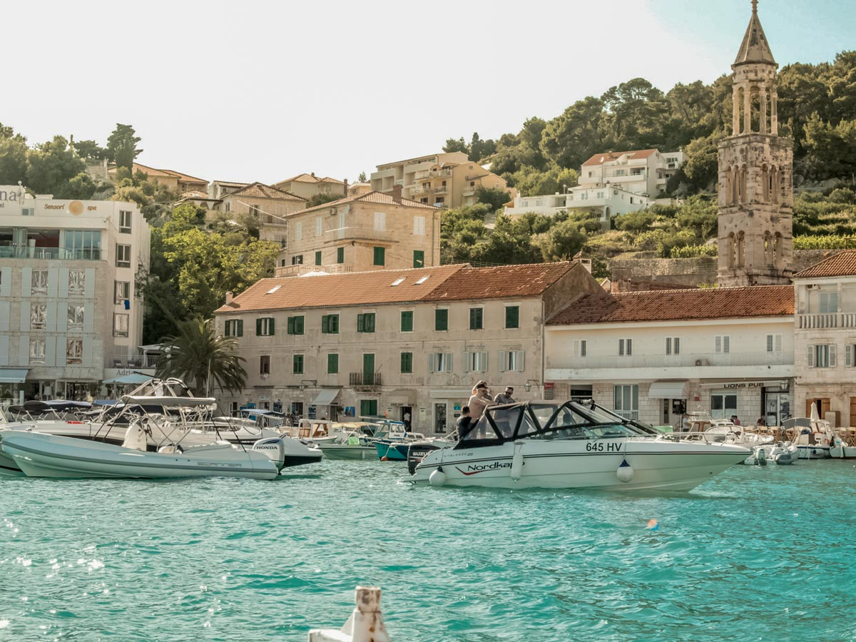 Mediterranean sea boating turquoise water