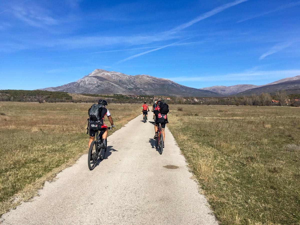 Biking mediterranean rural roads mountains