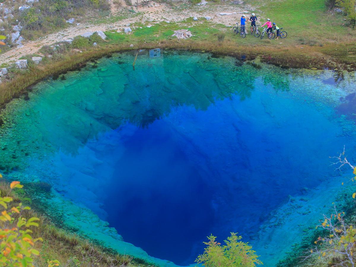 Exploring mediterranean pools ponds underground caves
