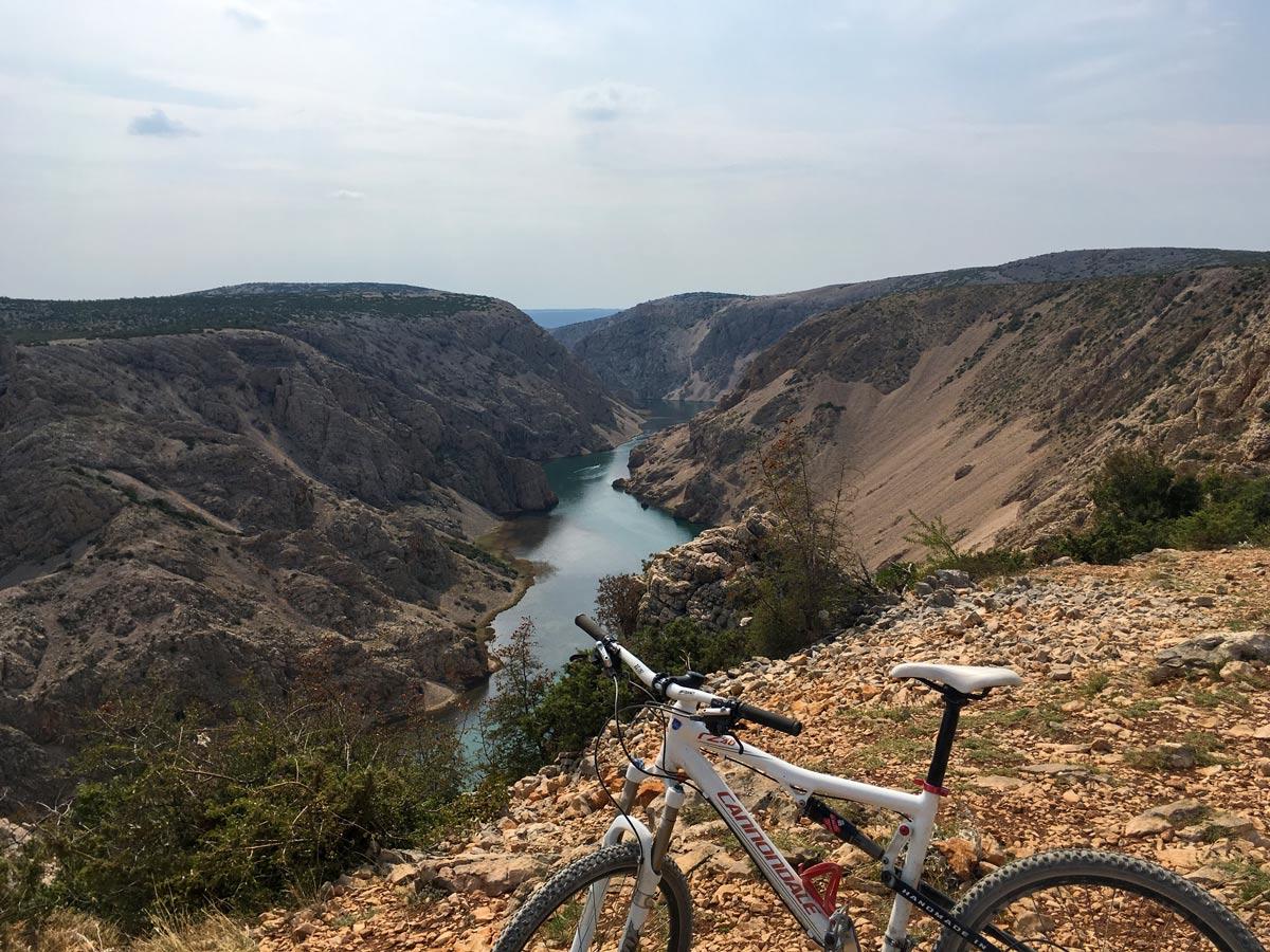 Beautiful mountain biking trails mediterranean
