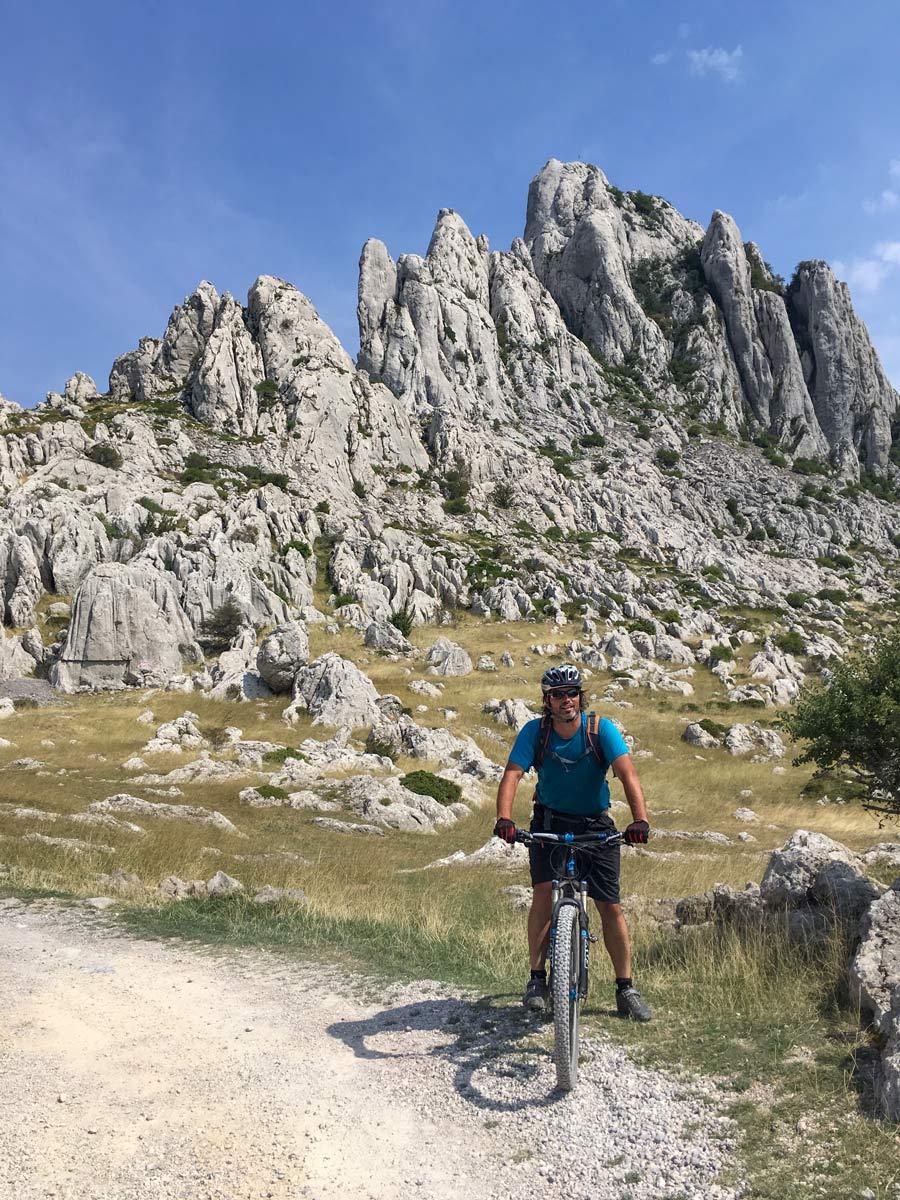 Biking hills mountain biker mediterranean